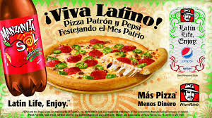 Cobranded Campaign for Hispanic Heritage Month between Pizza Patron and Pepsi