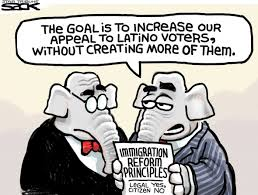 The latino vote and immigration reform principles. Photo Credit: www.truthdig.com