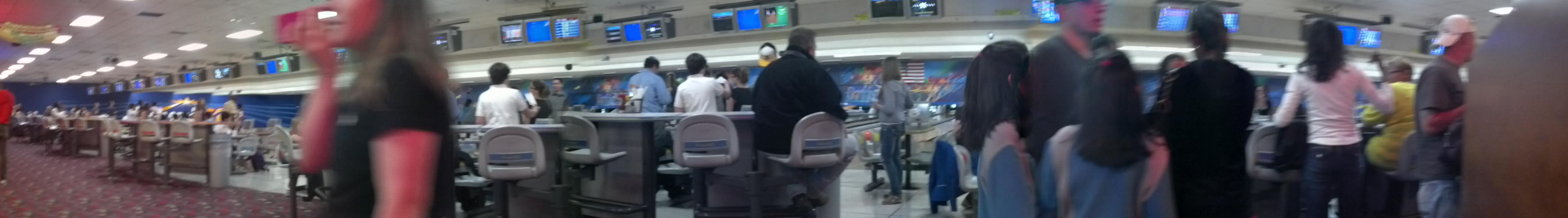 Bowling Alley Panoramic Photo