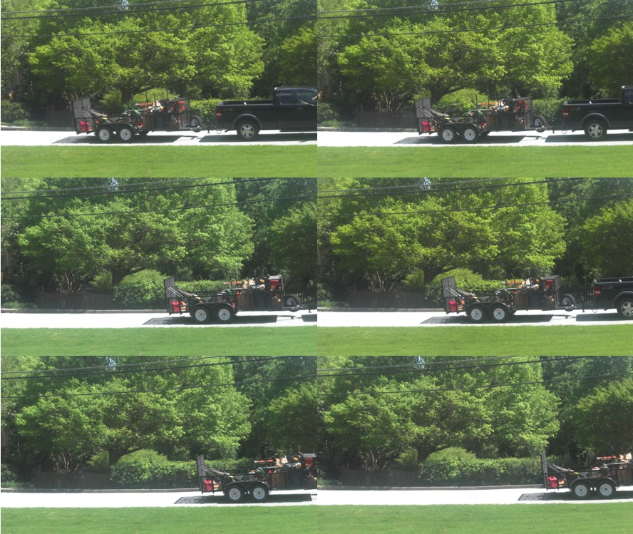 Multi-shot of truck driving with Droid Razr Camera
