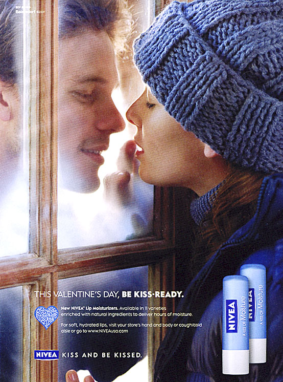 Nivea Valentine's advertisement Kiss and be Kissed