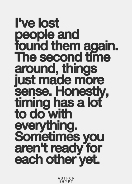 So true! Timing is key