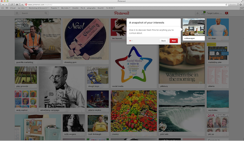 Pinterest search preview