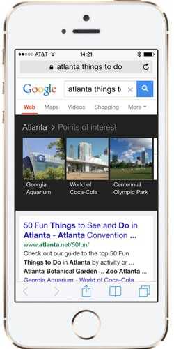 Google Search things to do in Atlanta