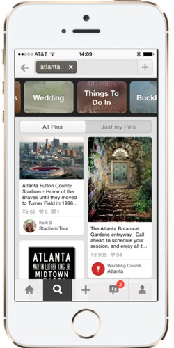 Pinterest Guided Search: a closer look at Atlanta