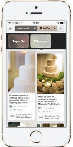 With over 80 million online people in Brazil we had to have Pinterest Guided Searches in Portuguese!
