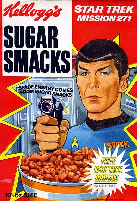 Kelloggs sugar smakcs and Star Trek