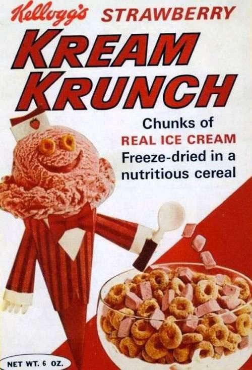 Kream Krunch cereal Kelloggs - I would have loved tasting this cereal!!