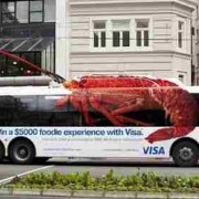 Win a $5,000 Foodie experience with this original Visa bus advertising