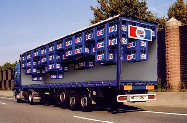 Pepsi creative truck advertisement