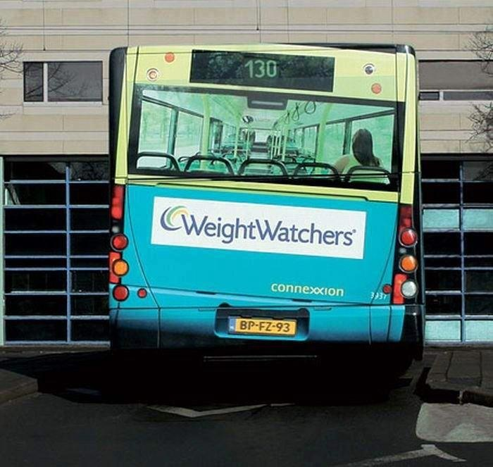 Weight watchers bus advertising campaign, need I say more?