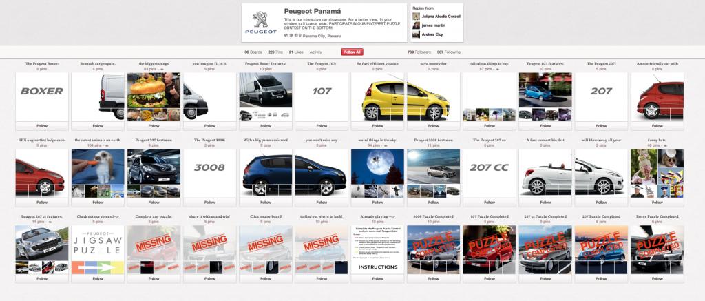 Pinterest Peugeot Page