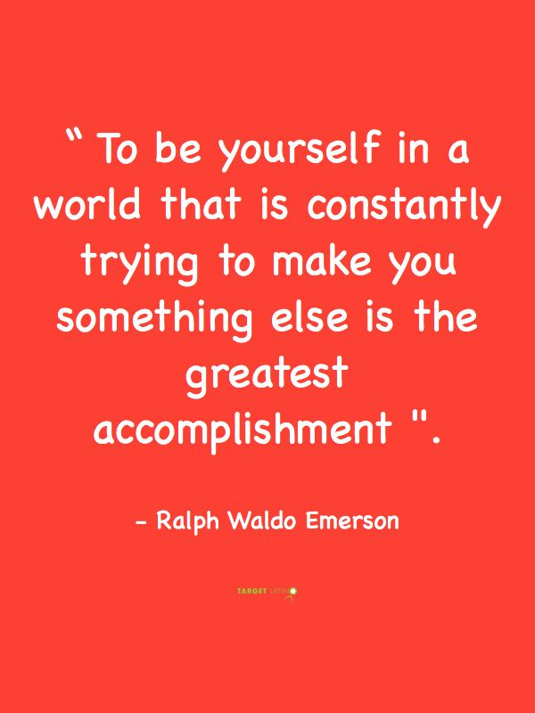 Be yourself #Emerson #quotes
