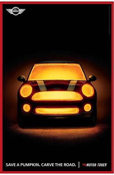 Carve the Road. Mini Cooper Halloween ads