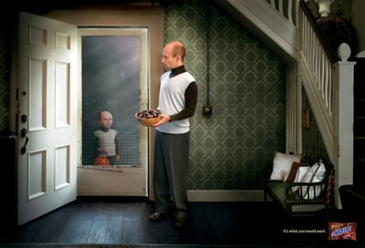 snickers print halloween ad