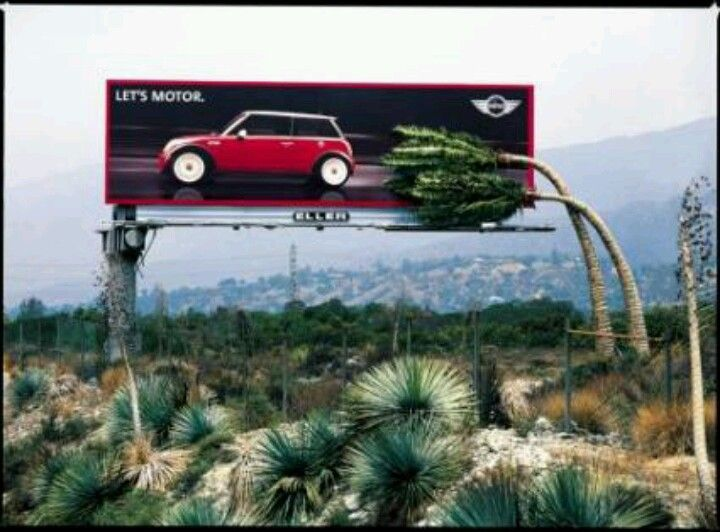 "Mini cooper ad ""Let's Motor"""