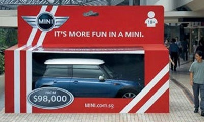 TBWA, 'It's more fun in a Mini , BMW / Ambient', 2003