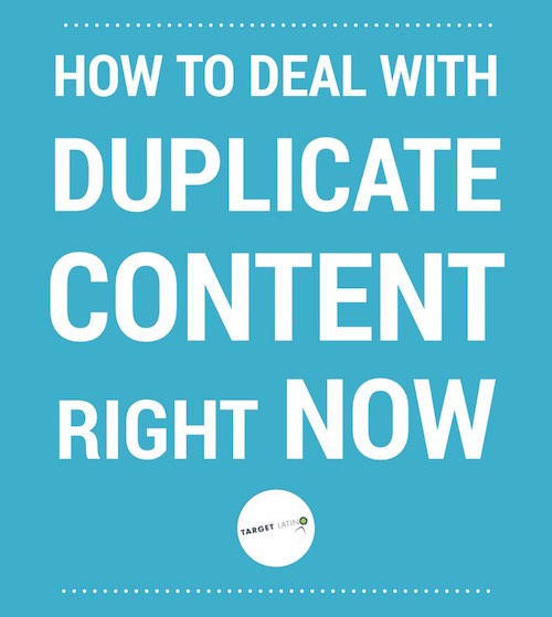 How to deal with duplicate content right now