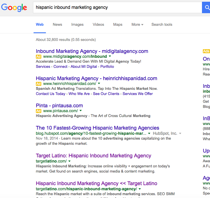 hispanic inbound marketing agency