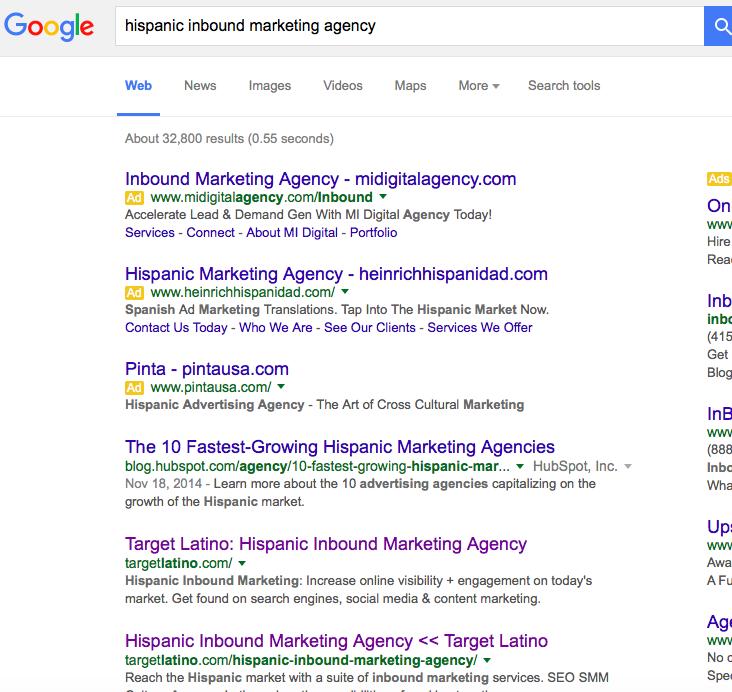 hispanic inbound marketing agency