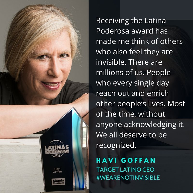 What receiving the Latinas Poderosas award has meant to me. #wearenotinvisible